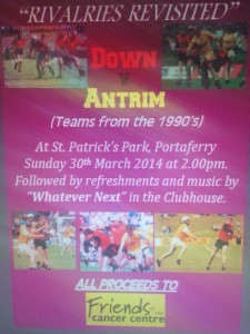 Rivalries Revisited 30 March 2014 Portaferry